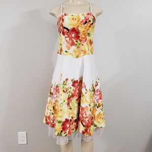 DRESSBARN | floral dress sz 4